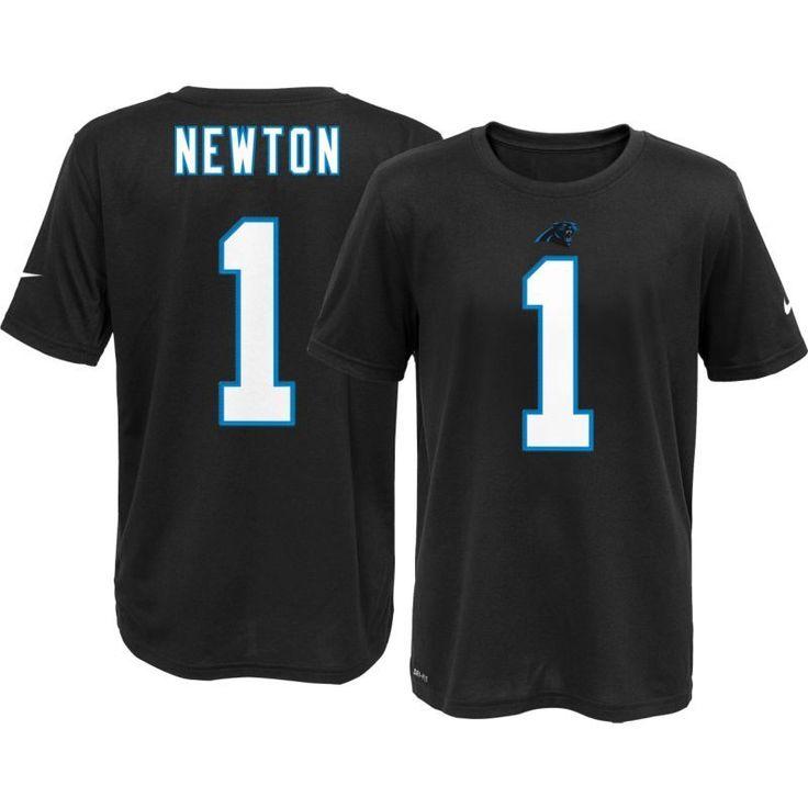 Nike Youth Carolina Cam Newton #1 Black T-Shirt, Kids Unisex, Size: Large, Team