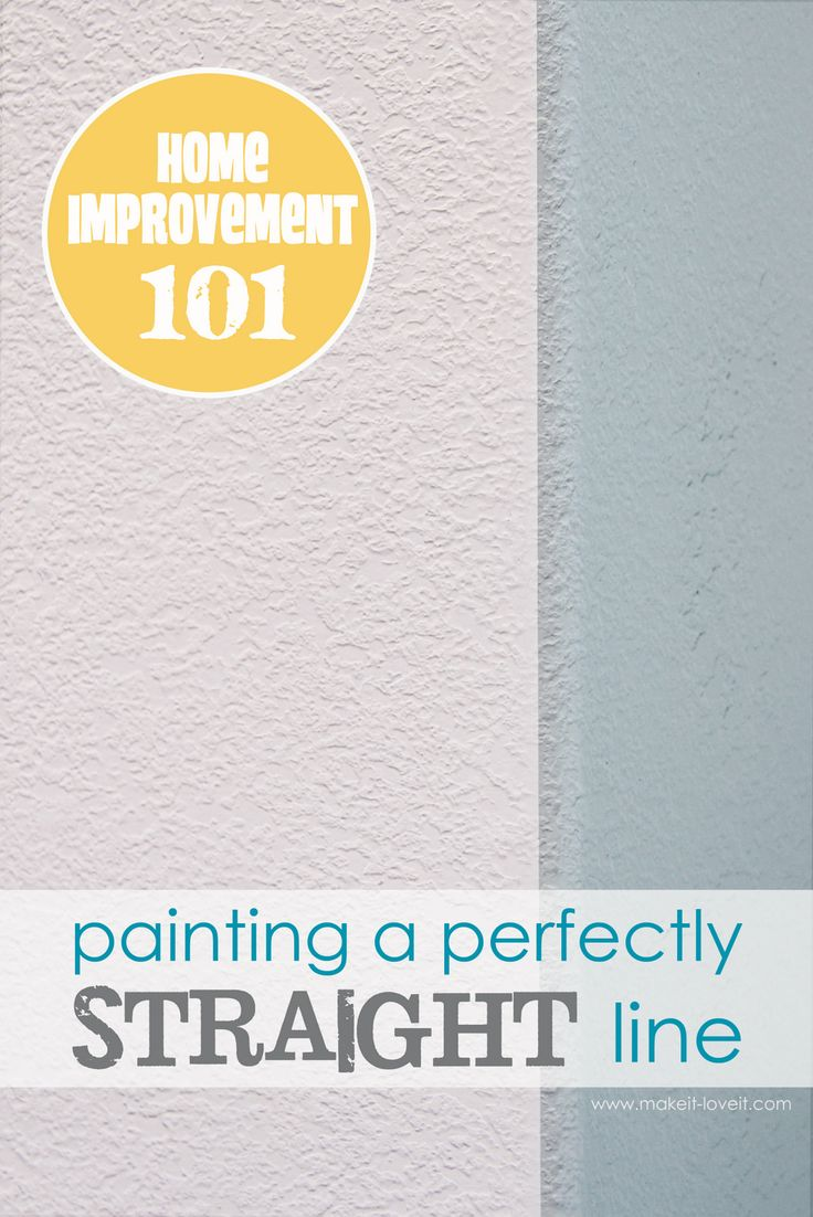 Pro Painter tip for perfectly straight paint lines