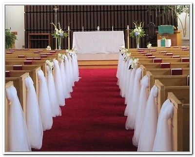 Ribbons and Bows 20941: Church Pew Wedding Decorations Set Of 10 -> BUY IT NOW ONLY: $115 on eBay!