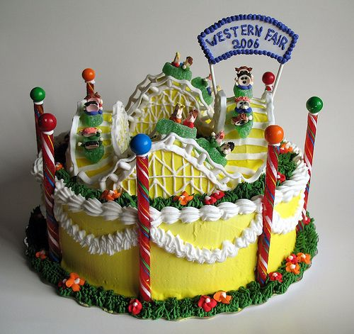 Roller Coaster Cake.  Learn ABC Cake Decorating Techniques Using ABC Online Cakes Decoration Courses on http://CakeDecoratingCoursesOnline.com
