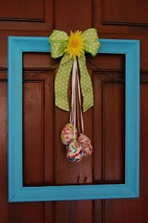Easter Wreath from an old frame