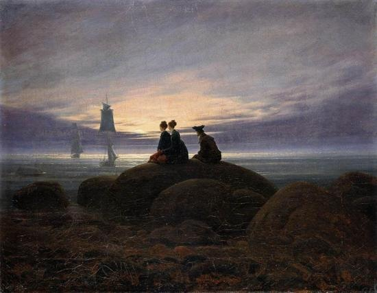 "Caspar David Friedrich, ""Moonrise by the Sea,"" 1822"