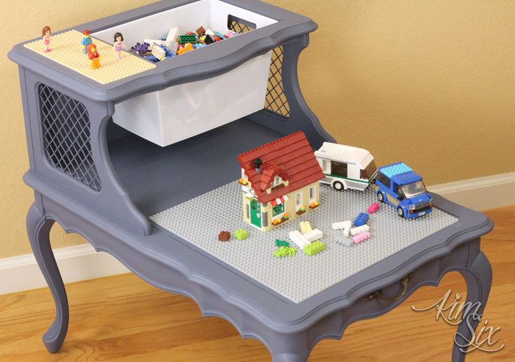 LEGO Table from Two Tier End Table