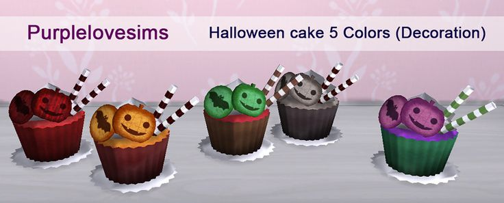 PurpleLove-sims | Halloween cake (S4CC) 5 colors / Decoration ...