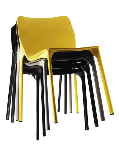 chassis by stefan diez for wilkhahn stackable chairsblack