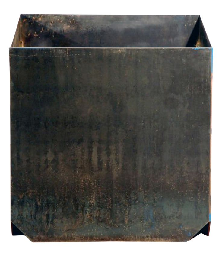 Buy The large 'Cubiste' Patinated Steel Plate Planter by Design Frères - Quick Ship designer Accessories from Dering Hall's collection of Contemporary Industrial Mid-Century / Modern Transitional Planters.