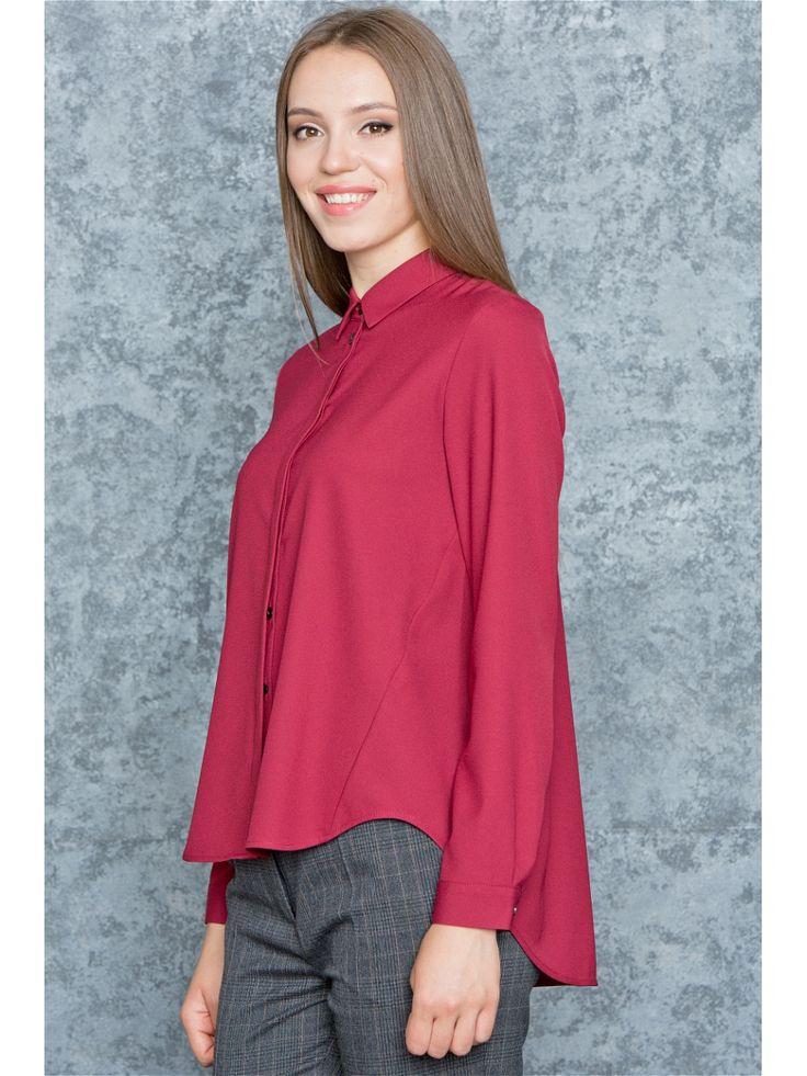Блузка Levall. Цвет бордовый.