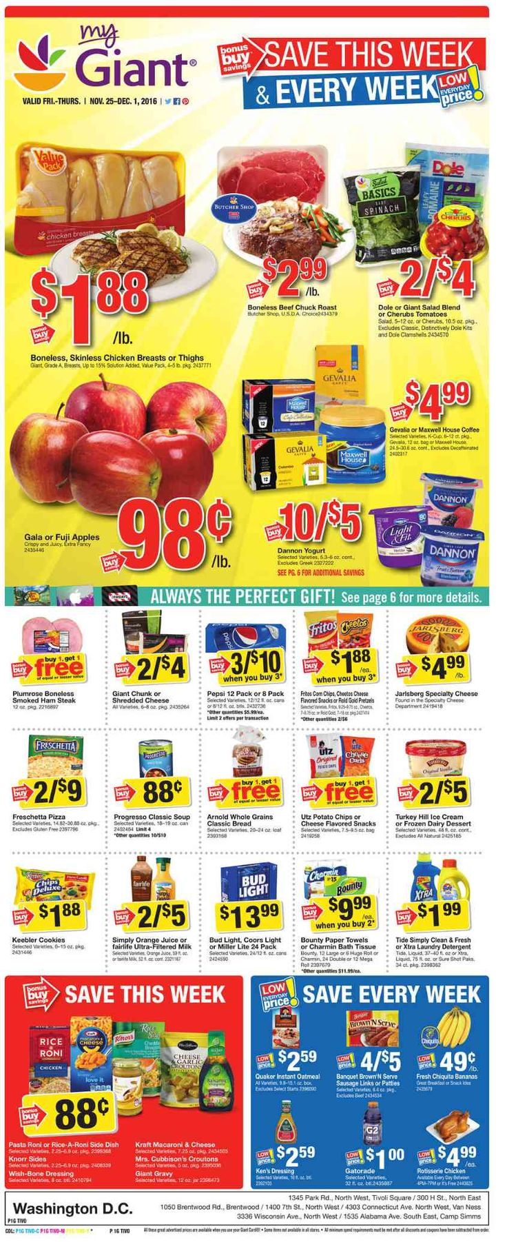 Giant Food Weekly Ad November 25 - December 1, 2016 - http://www.olcatalog.com/grocery/giant-food-weekly-ad.html