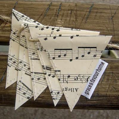 sheet music bunting.