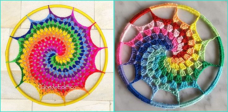 Mandala em crochê além de ser terapêutico é decorativo! Mandala em estrela, espiral, reciclando com CD, na parede, bolsa, almofada. Suas cores e benefícios.