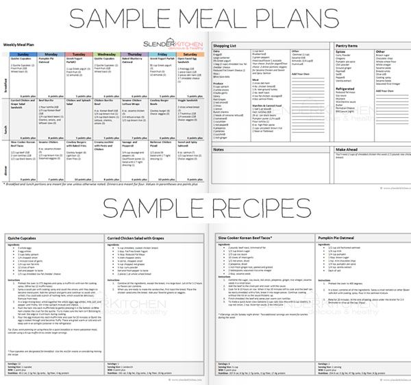 Member Recipes for Weight Watchers Core Diet