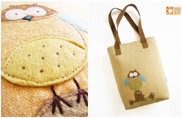 Рыжие Рукоделки/ orange crafts: Owl bag