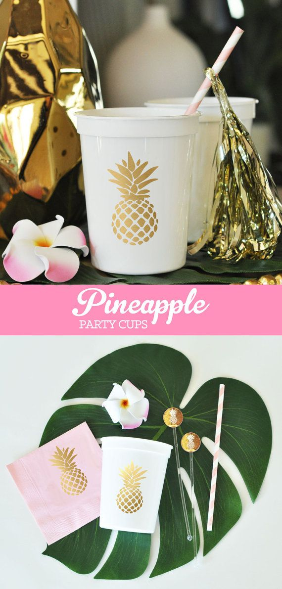 Pineapple Cups Pineapple Decor Pineapple Party Cups by ModParty etsy.com