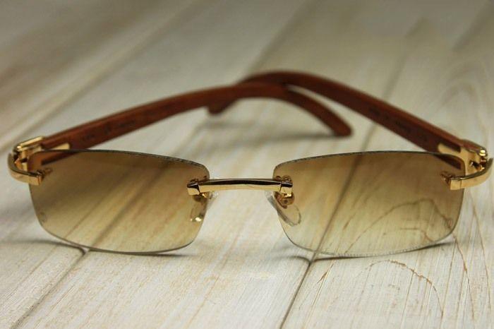 Cartier Wood Sunglasses Cartier Shades Cartier Zanzibar Sunglasses Brown T8300709 Gold R Cartier Sunglasses Mens Glasses Frames Face Shapes Cartier Glasses Men