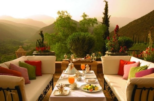 beautiful space and view: Outdoor Living, Breakfast, The View, South Africa, Patio, Morocco, Terraces, Outdoor Spaces, Rooftops