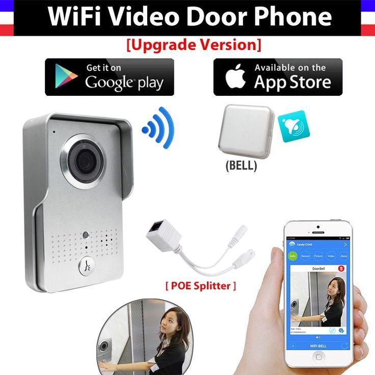 124.99$  Buy here - http://alij57.worldwells.pw/go.php?t=32456309631 - [Upgrade Version] Wireless IP Wifi Doorbell Intercom Peephole Video Door Phone Camera + indoor Door bell Support IOS Android