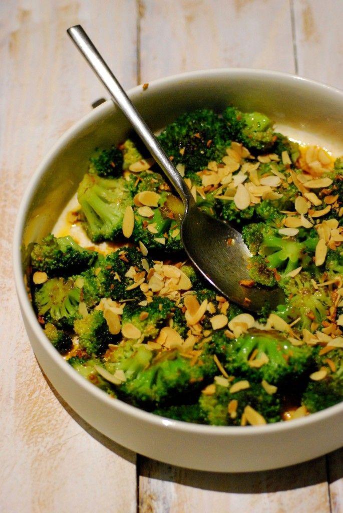 gegrilde broccoli met pittige knoflookolie