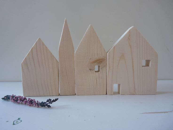 Set of 4 wooden houses, wooden house decoration 4-pack, unfinished wood decoupage, unfinished wooden houses, kids decor, office decor Home & Living  unpainted wood  wood office decor  untreated wood  unfinished box  unfinished wooden  Wooden house wooden decor  interior decor  little wooden houses  unfinished houses  wood village houses  wood houses  decoupage