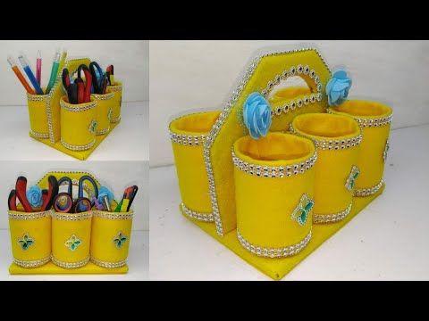 Kreasi Botol Bekas Cara Membuat Tempat Pensil Dari Barang Seadanya Bottle Craft Ideas Youtube Kerajinan Botol Plastik Tempat Pensil Kerajinan Kertas