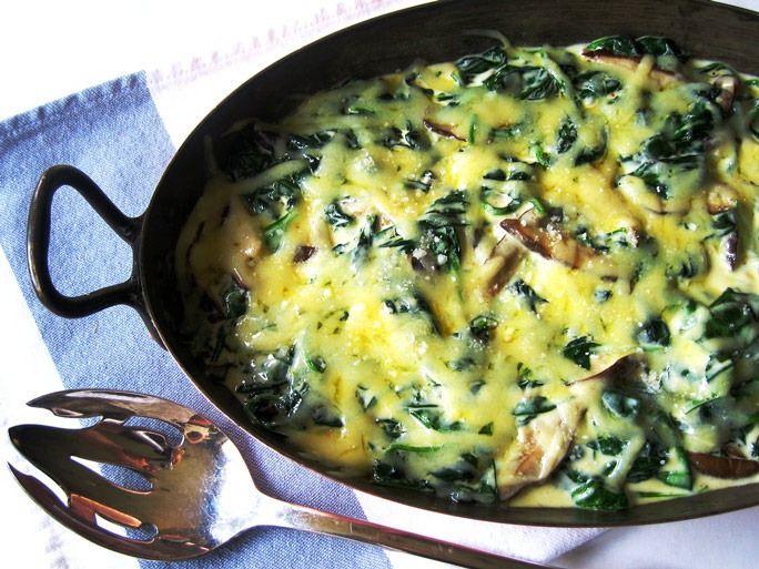 Una exquisita comida, muy fácil y rápida de preparar: Espinacas gratinadas.http://www.utilisima.com.ar/espinacas-gratinadas-con-salsa-blanca