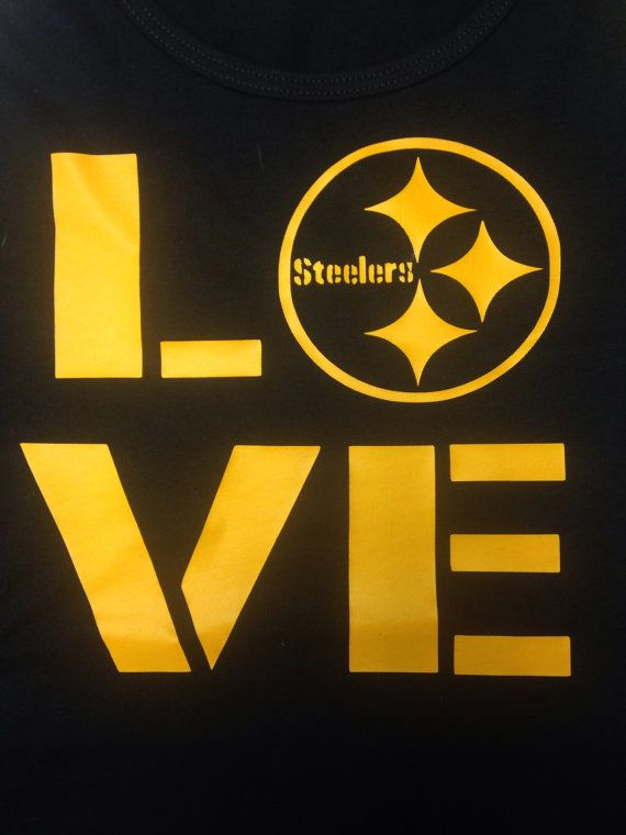 Love shirt inspired by the Pittsburgh Steelers - available in any size on Etsy, $15.00