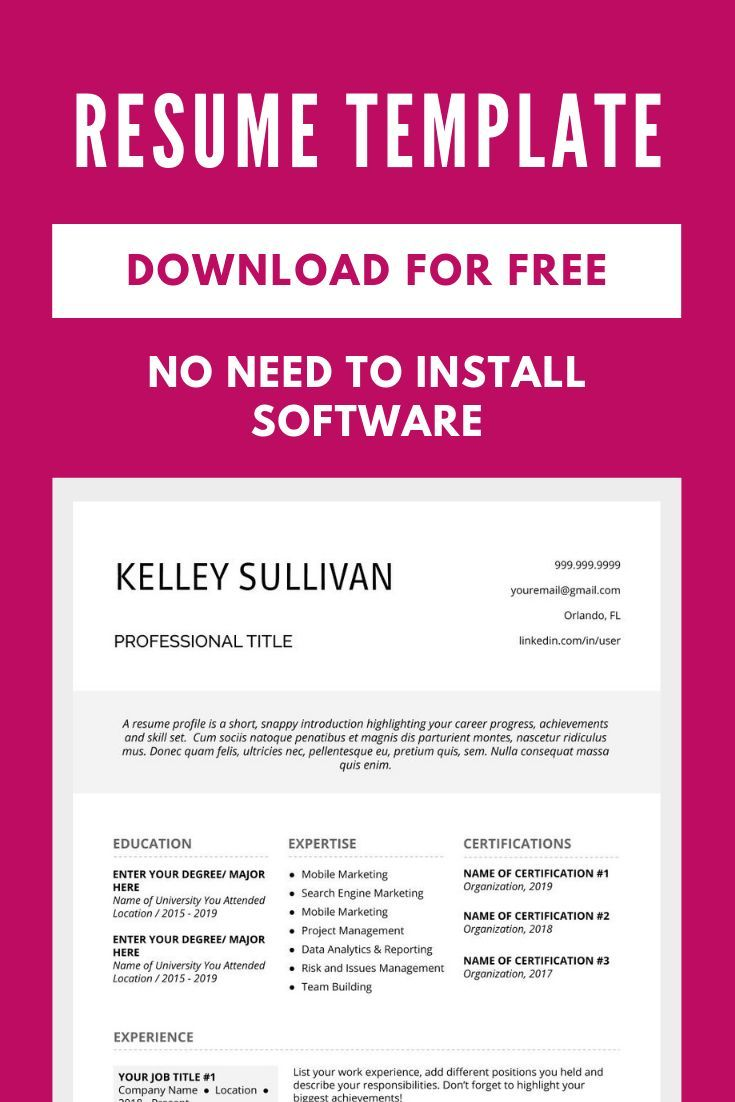 Download Free Resume Template Download Free Resume Template Downloadable Resume Template Resume Template Free Resume Design Free