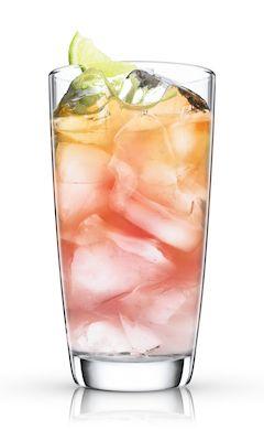 MALIBU Bay Breeze equal coconut rum, pineapple juice and cranberry juice