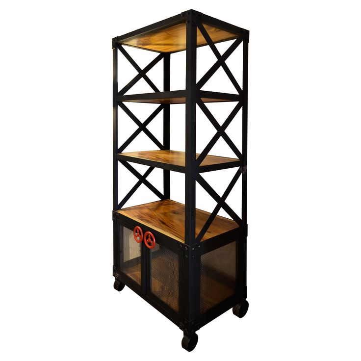 Bookcase F - Metal. Industrial inspired Bookcase.