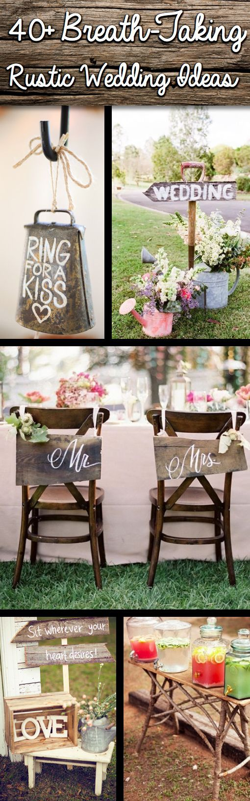 40+ Breath-taking Rustic Wedding I Cutediyprojects