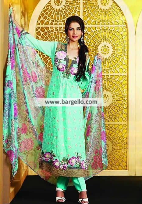 Premium Quality Embroidered Chiffon Suit for Daily Wear Atlanta Georgia GA Tawakka Pearl Collection  UK USA Canada Australia Saudi Arabaia Japan Bahrain Kuwait Norway Sweden New Zealand Heavy Embroidered Pishwas in Chiffon for all Formal Events Product code: WL6979 Original Price: $210.95 Our Price: $190.95 You save: $20.00 (9%)