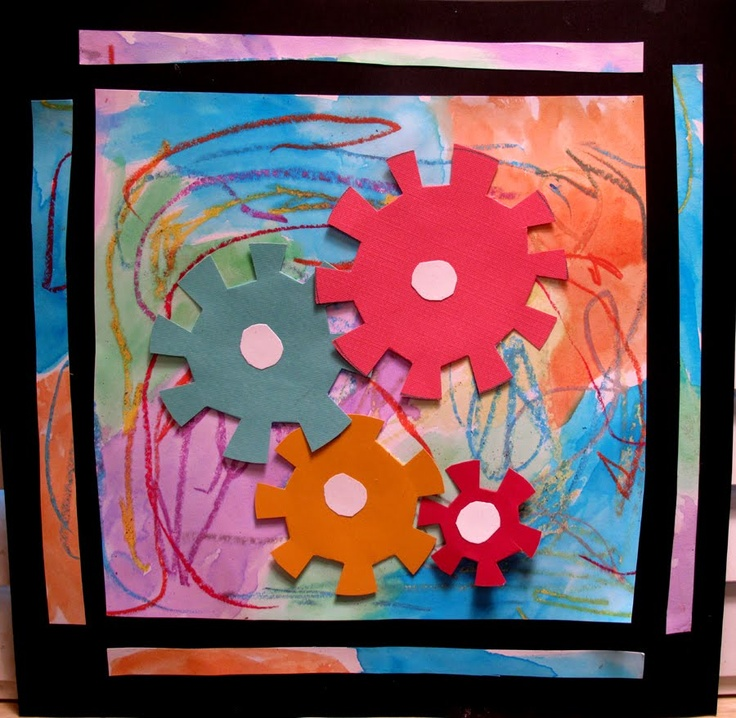 Gears project art in motion simple machine projects for Science arts and crafts