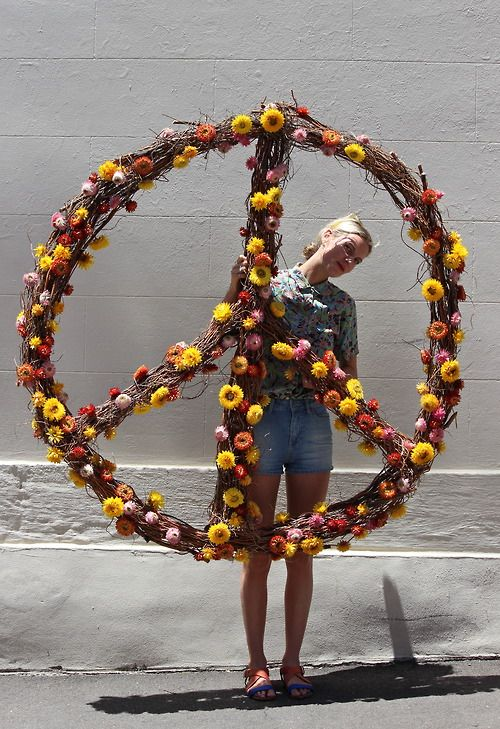 Peace sign by Lucy Edmonds 2013