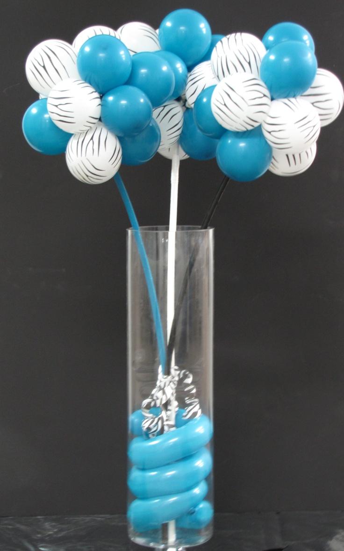 Zebra Balloon Centerpiece