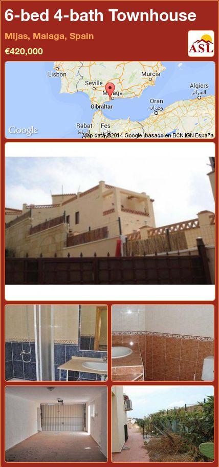 6-bed 4-bath Townhouse in Mijas, Malaga, Spain ►€420,000 #PropertyForSaleInSpain