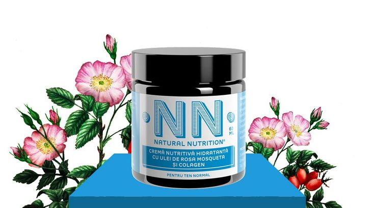 Crema nutritiva hidratanta cu ulei de rosa mosqueta si collagen (60 ml)