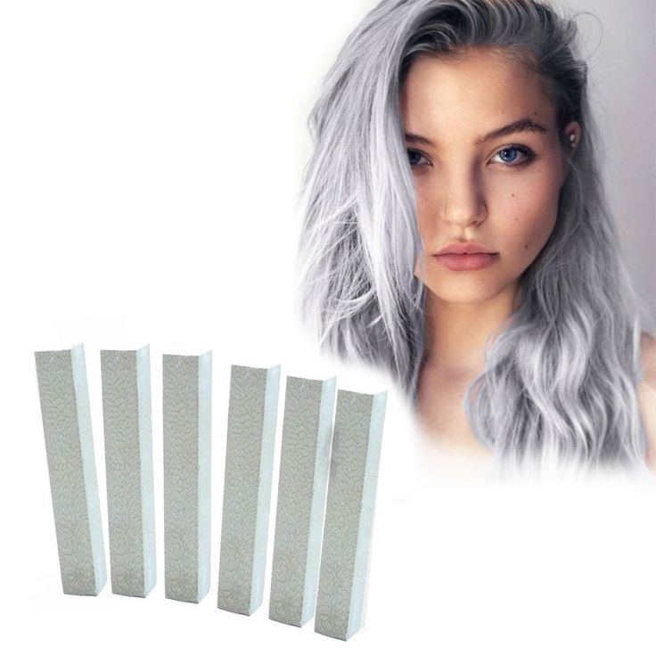 Pale Silver Hair Dye | SILVER STARLIGHT 6 Platinum Silver Hair Chalks | HairChalk  Festive Silver Hair Color for your temporary hair dying fun! A complete 6 Hair Chalk Light Grey hair kit