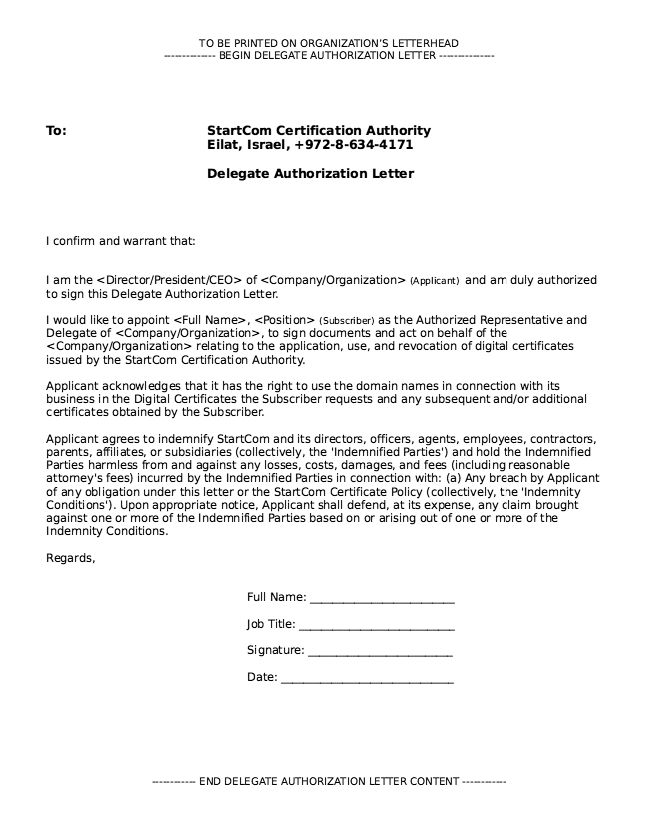 Authorization Letter to Sign Documents - http://resumesdesign.com/authorization-letter-to-sign-documents/