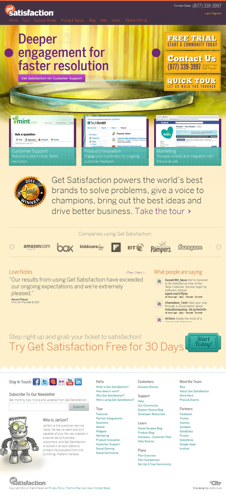 Get Satisfaction, 29th March 2012