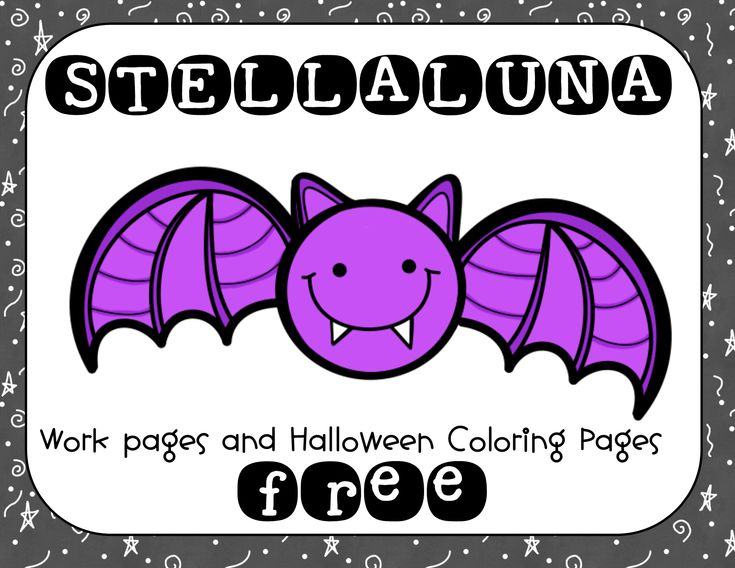 """Free printable to accompany STELLALUNA, a wonderful picture book about a bat....Follow for Free """"too-neat-not-to-keep"""" teaching tools & other fun stuff :)"""