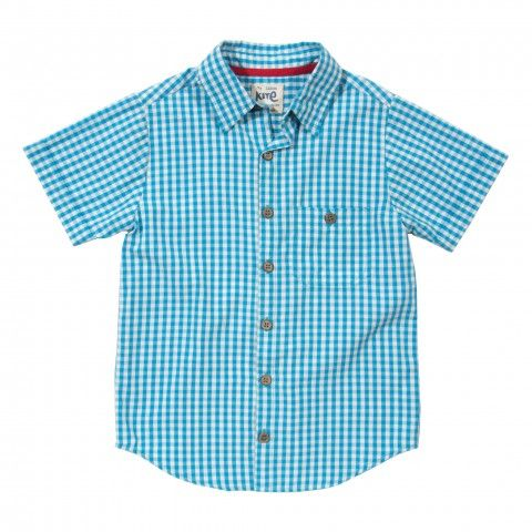 Organic cotton checked shirt front
