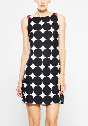 On ideel: DESIGUAL Sleeveless Polka-Dot Print Shift Dress