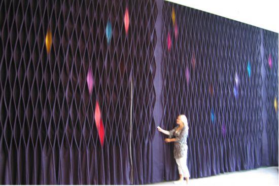 'Icework' Felt Curtain System  Anne Kyyro Quinn and Francesco Draisci