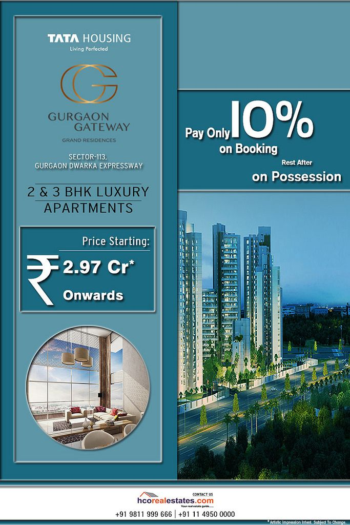 https://flic.kr/p/WRbsjd | Tata Gurgaon Gateway Modern Amenities | Tata Gurgaon Gateway is the project that gives a new chapter to modern lifestyle. This project offers 2 and 3 BHK residential high rise apartments. Click here: www.hcorealestates.com/project/tata-gurgaon-gateway/