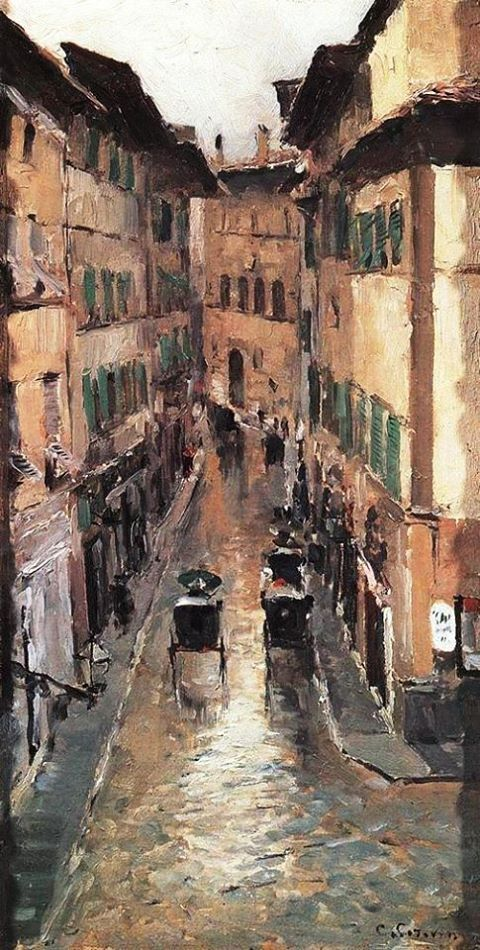 Konstantin Korovin - A Florence Street in the Rain, 1888