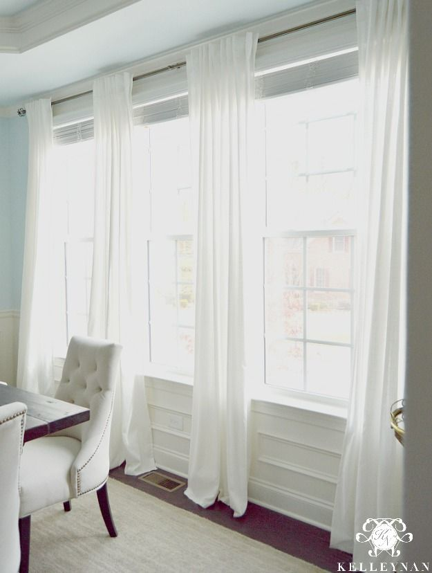 We have a lot of windows in our home. A LOT. We also have tall ceilings. To outfit each window in appropriate-length dressings could be an expensive investment but when we first moved in, I was desperate to hang curtains without breaking the bank. With a bit of research and a little luck, I found the perfect …