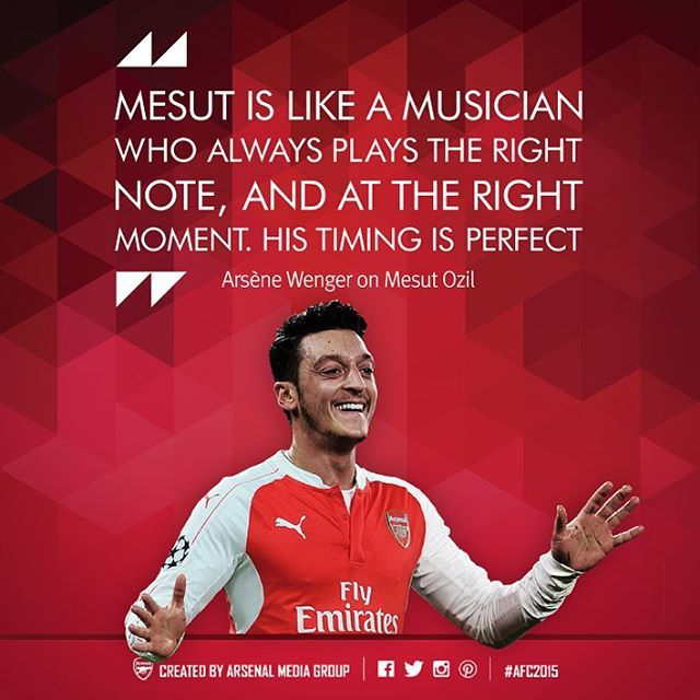 Quotes of the year. #Arsenal #AFC2015. The Boss on Mesut Ozil.