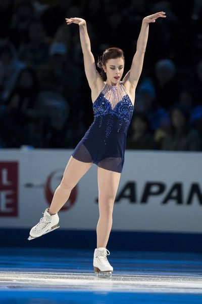 Ashley Wagner of the United States skates during the Exhibition of Champions program at the ISU World Figure Skating Championships at TD Garden in Boston, Massachusetts, April 3, 2016. / AFP / Geoff Robins