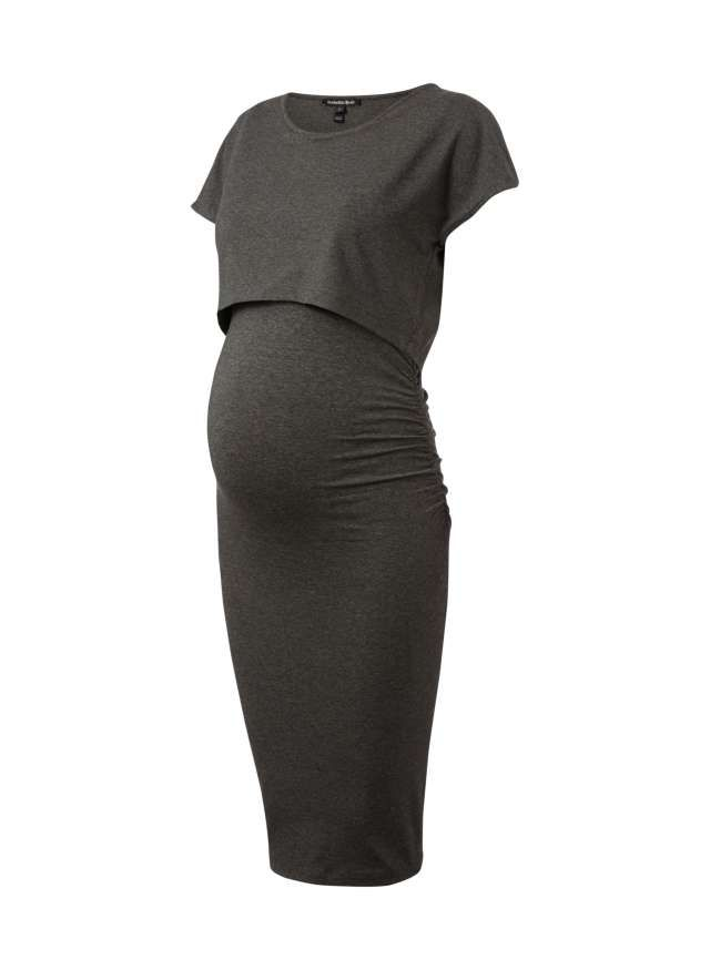 Argyle Maternity Dress in Grey   Isabella Oliver US