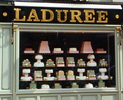 Laduree Paris on Rue de Bonaparte - Window Display of Confections