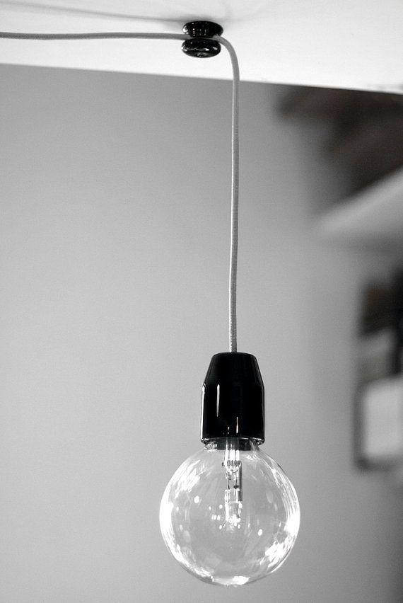 Tilka solo minimal lamp  - Black by tilka on Etsy, €40.00